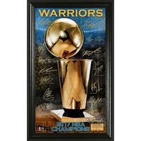 2017 NBA Finals Champions Trophy Signature Photo