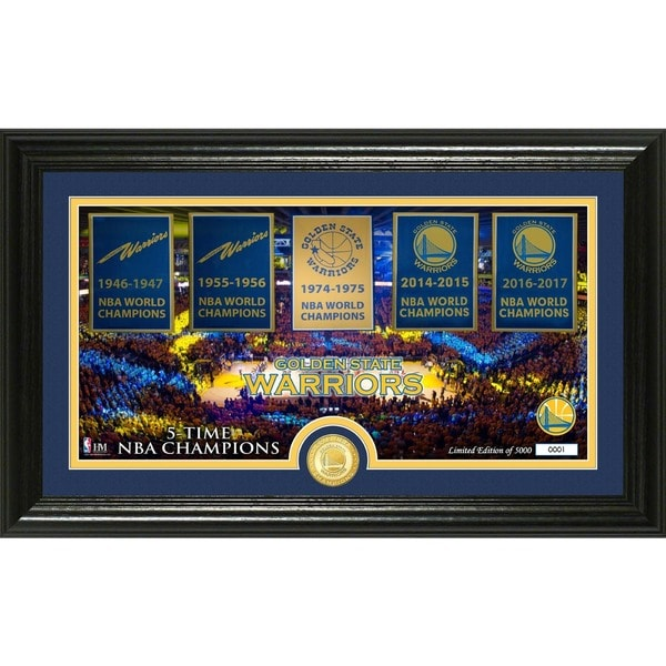 Golden State Warriors Traditions Panoramic Bronze Coin Photo Mint