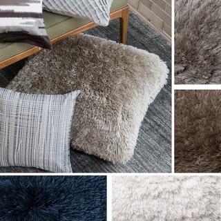 Plush Neutral Shag 22-inch Throw Pillow or Pillow Cover