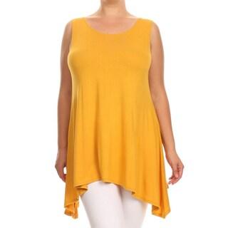 Women's Plus Size Mustard Sleeveless Top