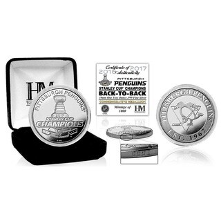 Pittsburgh Penguins 1oz Pure Silver 2017 Stanley Cup Champions Mint Coin