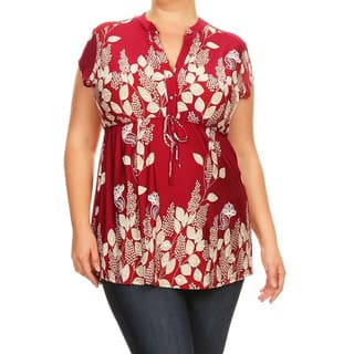 Women's Plus Size Floral Paisley Pattern Tunic|https://ak1.ostkcdn.com/images/products/16430733/P22776685.jpg?impolicy=medium