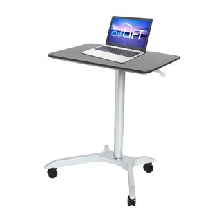 Seville Classics AIRLIFT XL Sit-Stand Mobile Desk, Espresso
