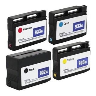 4pcs Remanufactured HP 932/933XL Ink Cartridge 1BL/1C/1M/1Y