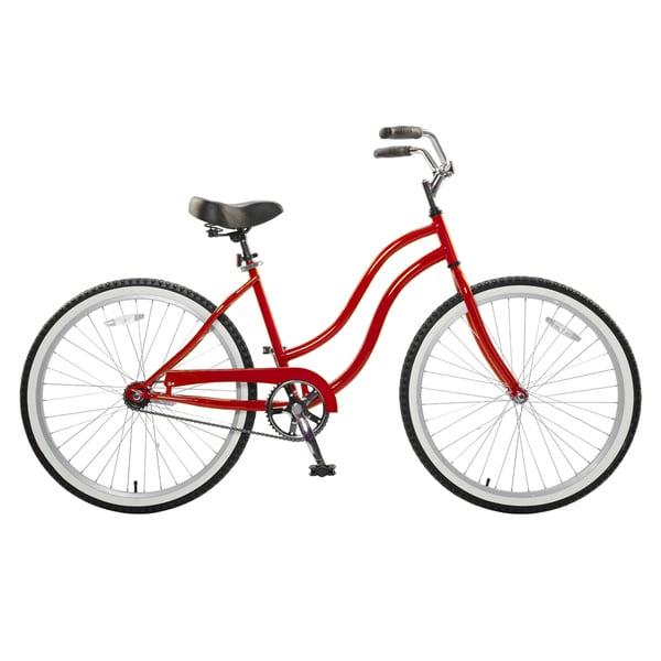 Cycle Force Women's Red 26-inch Cruiser Bike