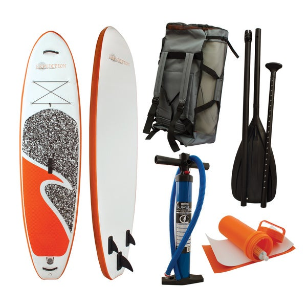 Expedition ISUP White PVC Inflatable Paddle Board Package