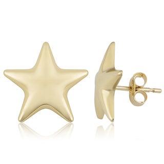 Fremada Italian 14k Yellow Gold Stud Earrings
