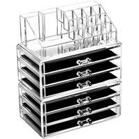 Ikee Design Acrylic Jewelry and Makeup Organizer Cosmetic Storage Drawer 3-piece Set