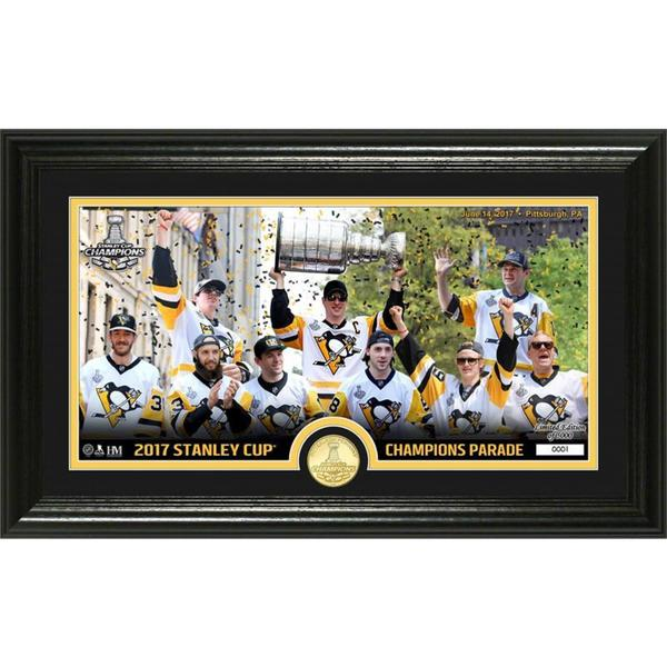 """Pittsburgh Penguins 2017 Stanley Cup 'Parade""""� Bronze Coin Pano Photo Mint"""