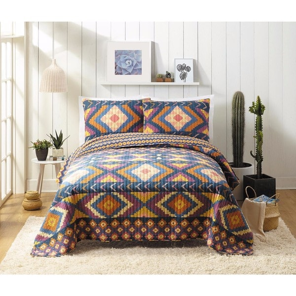 Makers Collective Nisreen Cotton 3-piece Quilt Set