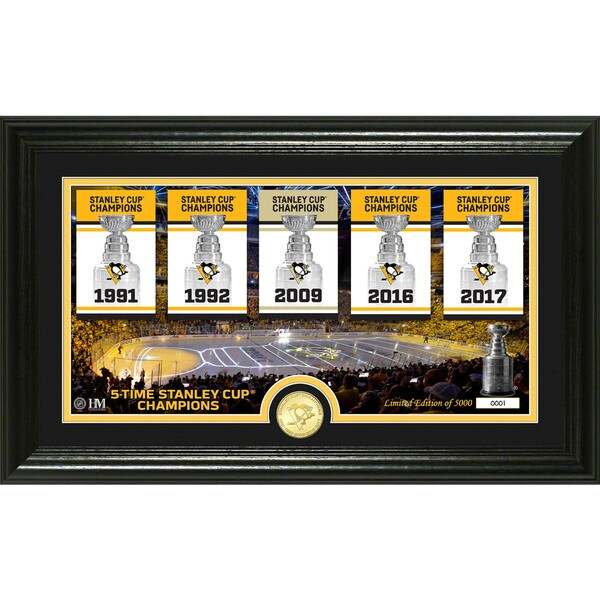 Pittsburgh Penguins Legacy Bronze Coin Photo Mint
