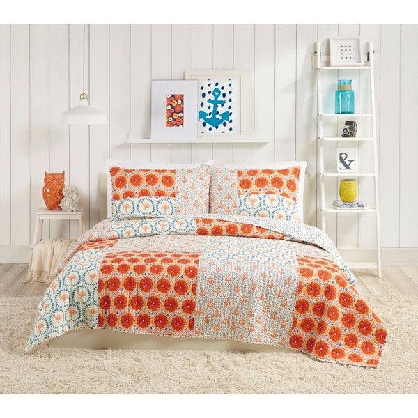 Makers Collective Flamingo Citrus Cotton Quilt Set