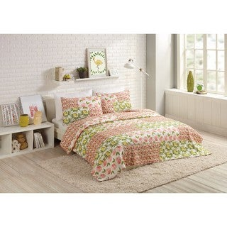 Makers Collective Citrus Flowers Cotton Quilt Set