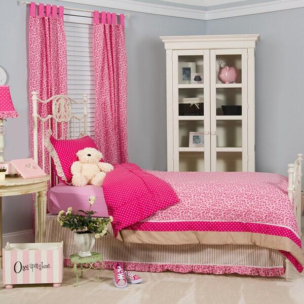 Tabby Cheetah Full/Queen 4-piece Comforter Set