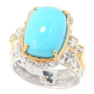 Michael Valitutti Palladium Silver Sleeping Beauty Turquoise Solitaire Ring