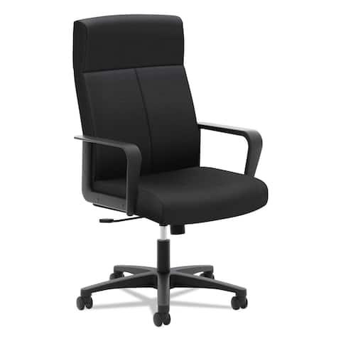 basyx VL604 Series High-Back Executive Chair, Black Fabric