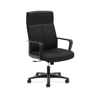 basyx VL604 Series High-Back Executive Chair, Black Fabric