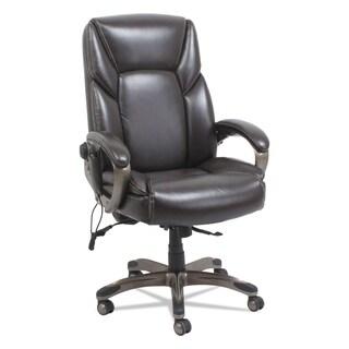 Alera Shiatsu Heated Massage Chair, Black, Silver Base