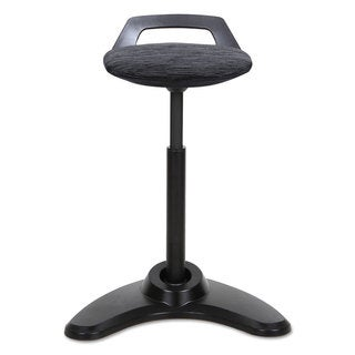 Alera Sit to Stand Perch Stool, Black with Black Base (4 options available)