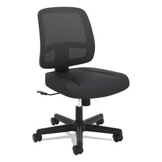 basyx VL205 Armless Mesh Back Task Chair, Black