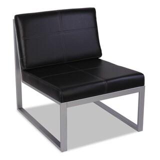 Alera Ispara Series Armless Cube Chair, 26.38 x 31.13 x 30, Black/Silver - 26.38 x 31.13 x 30