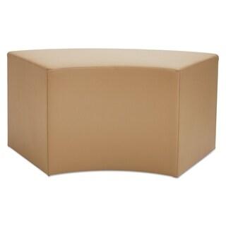 Alera WE Series Collaboration Seating, Arc Bench, 38 3/8 x 21 x 18, Slate