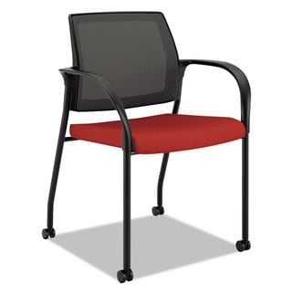 HON Ignition Series Mesh Back Poppy Fabric Upholstery Mobile Stacking Chair
