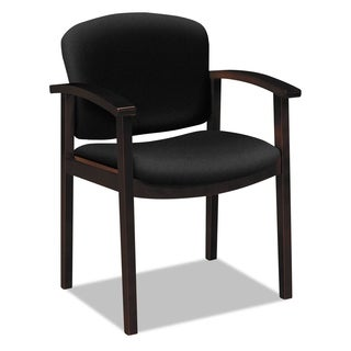 HON 2111 Invitation Reception Series Cognac/Solid Blue Fabric Wood Guest Chair