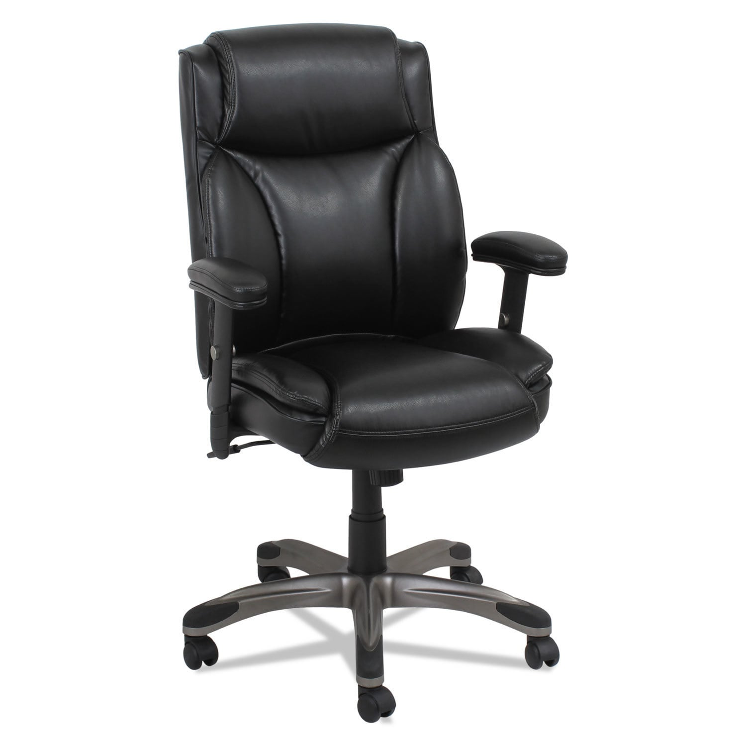Alera Veon Series Leather MidBack Manager's Chair w/Coil ...