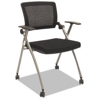 Alera Plus™ Flex Back Nesting Chair, Black/Gray, 2/Carton