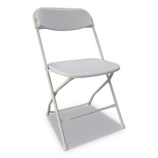 Alera Economy Resin Folding Chair, White/Black Anthracite, 4/Carton