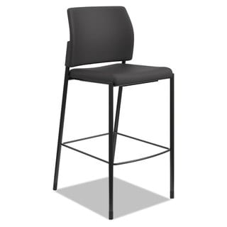 HON Accommodate Series Armless Cafe Stool, Black Fabric