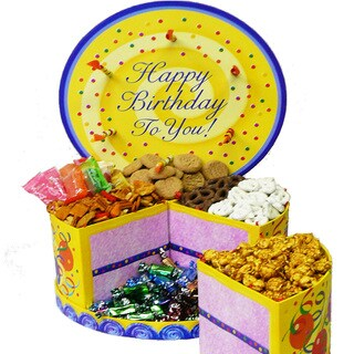 Happy Birthday To You Cake Shaped Gift Box of Treats