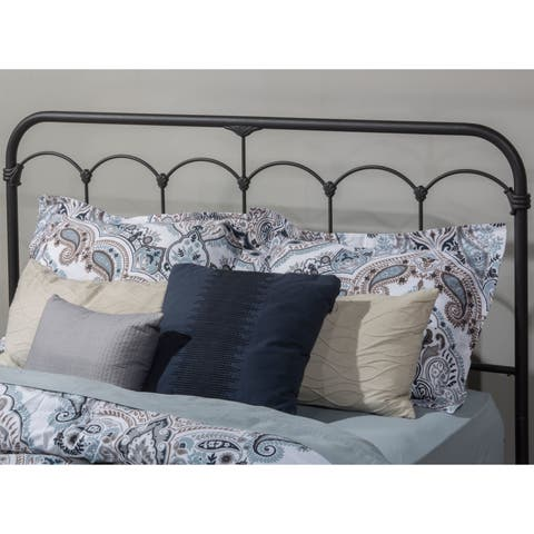 The Gray Barn Charley Black Speckle Metal Headboard