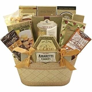 Golden Elegance Gourmet Food Gift Basket