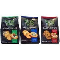 New York Style Baked Bagel Crisps (Variety Pack of 3)