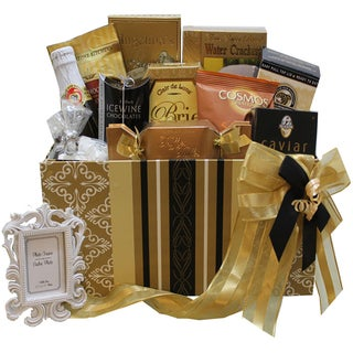 To Have and To Hold Wedding or Anniversary Gourmet Gift Box with Caviar