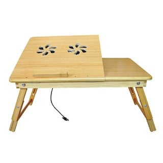 Bamboo Laptop Desk   Multi Functional Laptop U0026 Reading Stand With Internal  Cooling Fan