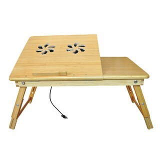 Bamboo Laptop Desk - Multi-Functional Laptop & Reading Stand with Internal Cooling Fan