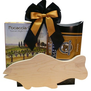 Catch of The Day Smoked Salmon Gift Set with Cutting Board