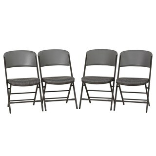 Lifetime Contemporary Padded Commercial Folding Chair (Set of 4)