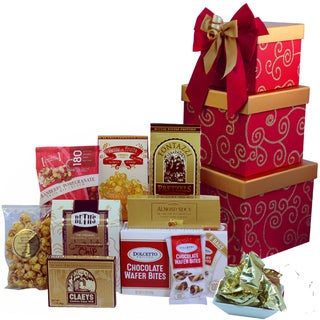 Sweet Sentiments OR Sweet Success Cookie, Candy and Snacks Gift Tower