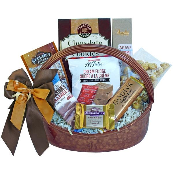 Caramel Cravings Chocolate and Gourmet Salted Caramels Gift Basket