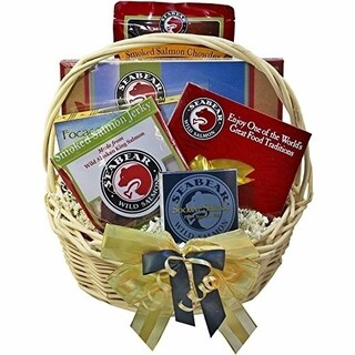 Classic Smoked Salmon and Seafood Lovers Gourmet Food Gift Basket