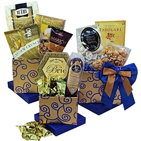 Crowd Pleaser Gourmet Meat, Cheese and Snacks Gift Tower