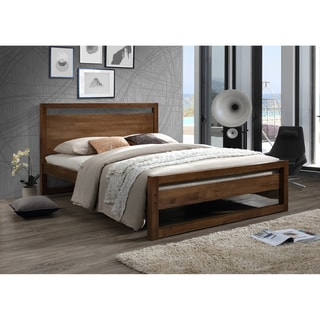Link to Mid-Century Brown Wood Platform Bed by Baxton Studio Similar Items in Bedroom Furniture