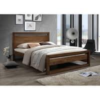 Mid-Century Brown Wood Platform Bed by Baxton Studio