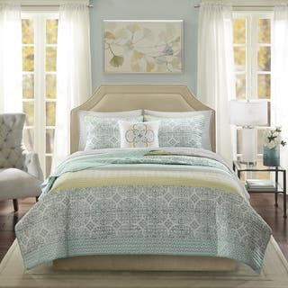 Madison Park Vanessa Coral 6 Piece Cotton Percale Quilted