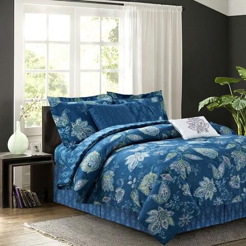 Jaipur Teal 7-piece Comforter Set