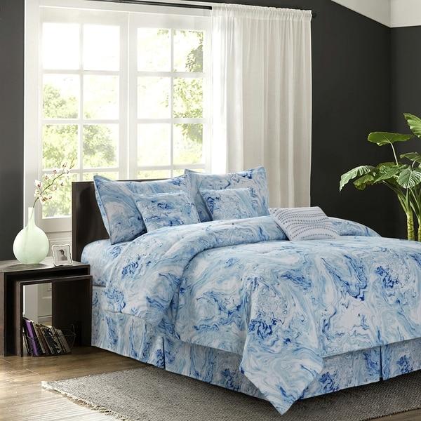 Carrera Blue 7-piece Comforter Set